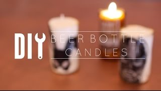 DIY Beer Bottle Cutting & Candles
