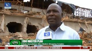 Edo Govt. Demolishes 150-Store Shopping Complex