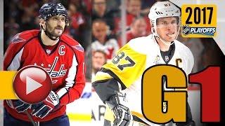 Pittsburgh Penguins vs Washington Capitals. 2017 NHL Playoffs. Round 2. Game 1. 04.27.2017 (HD)