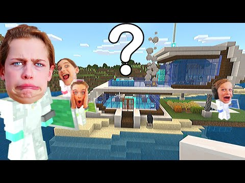 WHO BUILDS THE BEST BEACH HOUSE in Minecraft Gaming w The Norris Nuts