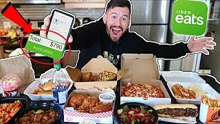 I Ordered Everything off the UberEats App!! (10,000 CALORIES)