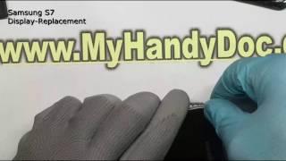 Samsung Galaxy S7 Display Reparatur repair replacement schnell günstig in Köln MyHandyDoc