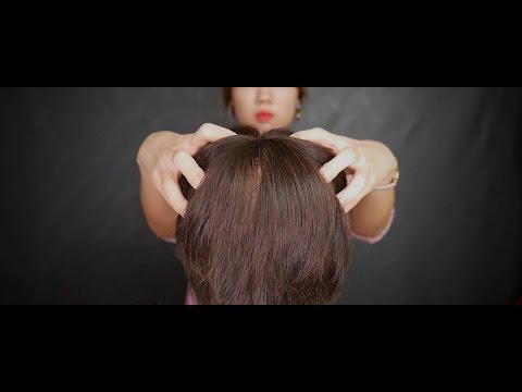 [ASMR] Hair brushing, cutting and head massage ASMR | Binaural sounds | New Camera Test