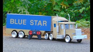 How To Make RC Truck    Blue Star Container - crazy creation