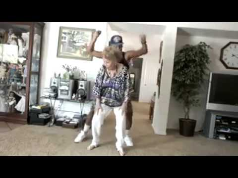 82 Year Old Grandma RED NOSE Dance With Her Grandson