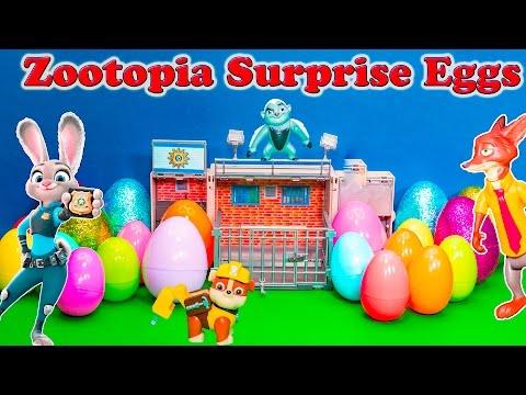 ZOOTOPIA Disney Zootopia Surprise Eggs Lion Guard Paw Patrol Zootopia Surprise Eggs Video