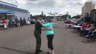 Canadian Soldier Dances on Canada Day