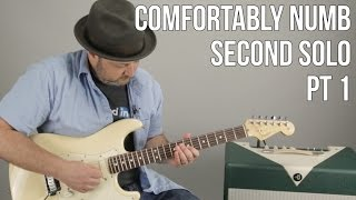 Comfortably Numb Second Solo Guitar Lesson (Pt1) David Gilmour