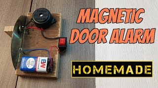 How to make a Magnetic Door Security Alarm - Homemade (Creative Life)