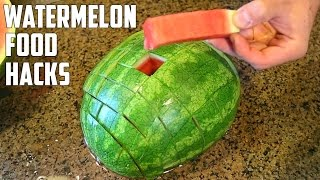 5 AWESOME Watermelon Food Life Hacks You Should Try!