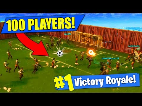 Xxx Mp4 100 PLAYER SOCCER MATCH In Fortnite Battle Royale 3gp Sex