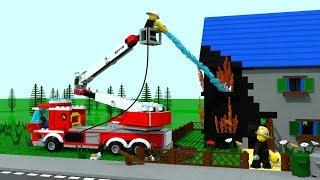 SVENS HOUSE ON FIRE!!! Lego City Firestation Cartoon for Children, Kids
