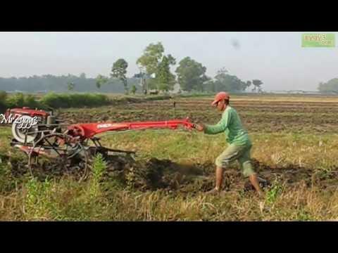 Yanmar 2 Wheel Hand Plow Tractor Beginning Work