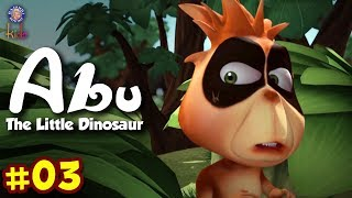 Abu The Little Dinosaur Ep 3 | Birth! The Little Red Monster | Animals Cartoons For Kids
