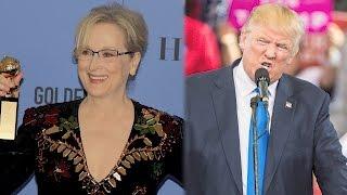 Donald Trump Slams 'Over-Rated' Meryl Streep for Her Golden Globes Speech | Splash News TV