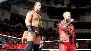 Enzo Amore &  Big Cass have some snacks for The Dudley Boyz: Raw, May 30, 2016