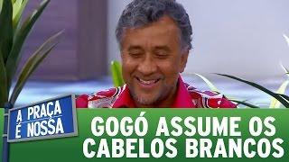 Paulinho Gogó assume cabelos brancos e culpa sua esposa | A Praça É Nossa (02/03/17)