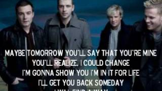 Westlife- Maybe Tomorrow- Lyrics
