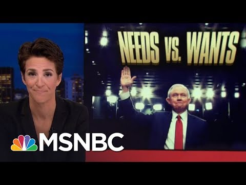 President Donald Trump Frustrated By Notion Of Independent Justice Rachel Maddow MSNBC