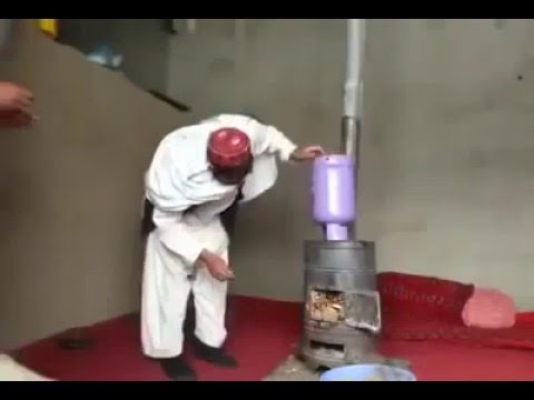 Pashto Funny Video Clip Masti Playing with Gas Fire and Stove