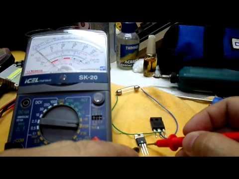 Testando Transistor Mosfet