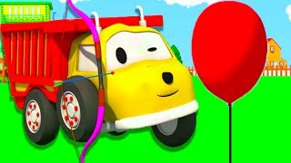 Ethan blows up colored balloons : learn colors with Ethan the Dump Truck