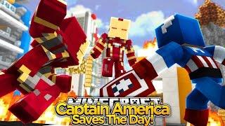 Minecraft Adventure - CAPTAIN AMERICA SAVES THE MINEVENGERS!!
