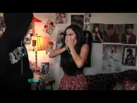 Justin Bieber sorprende a una fan En Ellen
