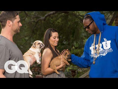 2 Chainz Pets a 100K Dog Most Expensivest Sh t GQ