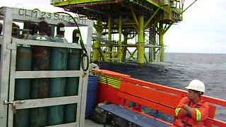 Offshore Job,.Bunker fuel oil during bad wather