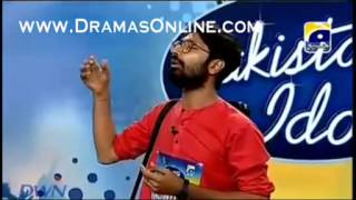Shahab In Karachi Auditions in Pakistan Idol nice singer but Rejected