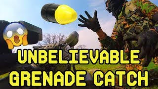 Unbelievable Grenade Catch!