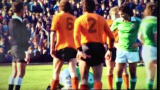 Johan Cruyff and George Best - Northern Ireland vs The Netherlands (Holland) in 1977