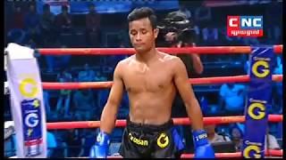 ឡុង រ៉ាមី Vs តាំង តាក់, Long Ramy, Cambodia Vs Tang Tak, Cambodia, Khmer Boxing 14 Dec 2018