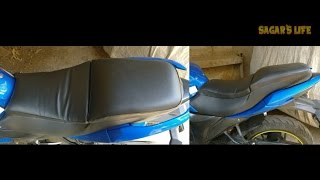 HOW TO INSTALL NEW SOFT SEAT ON GIXXER SF