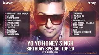 YO YO Honey Singh Birthday Special TOP 20 | DJ Shadow Dubai Remixes | Audio Jukebox