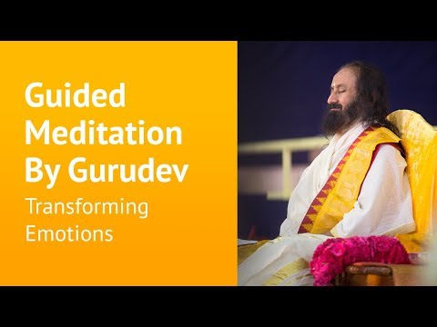 Transforming Emotions - Guided Meditation -  Sri Sri Ravi Shankar