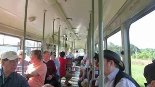 Riding the HTM PCC Trolley at National Capital Trolley Museum - Colesville MD