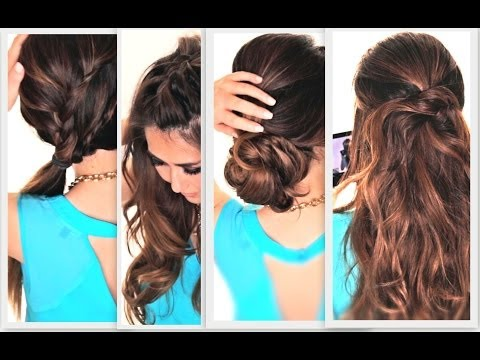 6 EASY LAZY HAIRSTYLES CUTE EVERYDAY HAIRSTYLE