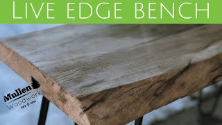 Begin Working with Slabs - Live Edge Bench
