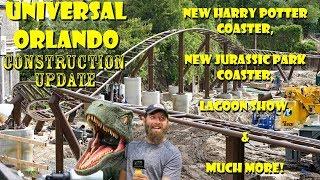 Universal Orlando Resort Construction Update 6.12.18 POTTER COASTER, NEW JURASSIC PARK RIDE & MORE!