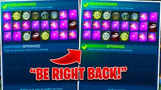 Going AFK In ACCEPTED TRADES WITH NEW ITEMS! | *RISKY* EXPERIMENT | Rocket League!