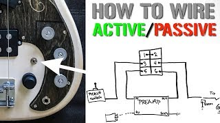 How to wire an Active/Passive Bypass Switch for a Bass Preamp