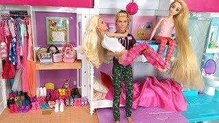 Barbie Ken Rapunzel Bunkbed Bedroom Morning Routine for School باربي الصباح الروتين Barbie Beliche