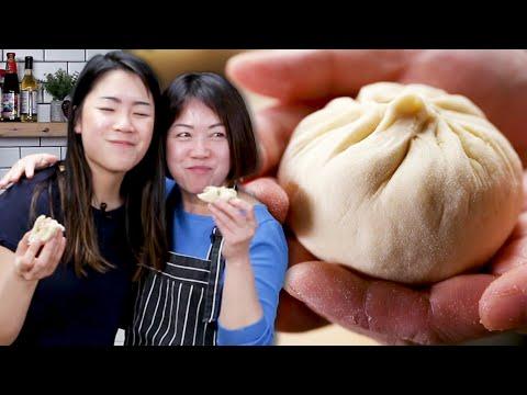 Mom Teaches Daughter How To Make Bao
