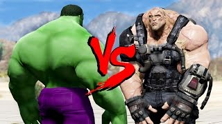 HULK VS BANE TN1 DEATH BATTLE - GTA 5 MODS !!!