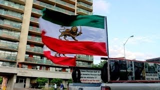 Persian Flags in Toronto after Iran-Nigeria Match: 2014 World Cup