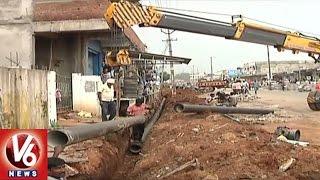 Telangana Government Speedup Mission Bhagiratha Works | Hyderabad | V6 News