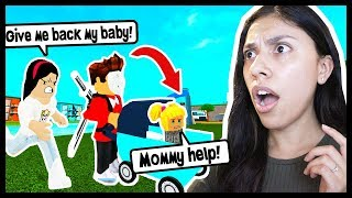 MY BOYFRIEND & I ADOPTED A BABY GIRL & SHE GOT KIDNAPPED! - Roblox Roleplay - Adopt and Raise A Baby
