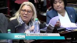 Elisa Carrió destrozó a De Vido en Diputados   Quiero justicia y condena para De Vido